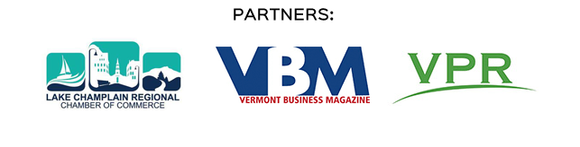Partners: Lake Champlain Regional Chamber of Commerce, Vermont Business Magazine, Vermont Public Radio