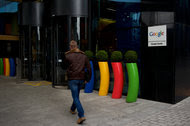 Google's European headquarters in central Dublin, Ireland. The trans-Atlantic data agreement allows companies to transfer digital information about people's social media posts and online search queries across the Atlantic.