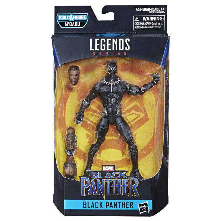 Image of Black Panther Marvel Legends Wave 2 (M'Baku BAF) - Unmasked Black Panther - FEBRUARY 2019