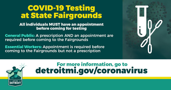 COVID - Appointments Needed for Testing at Fairgrounds