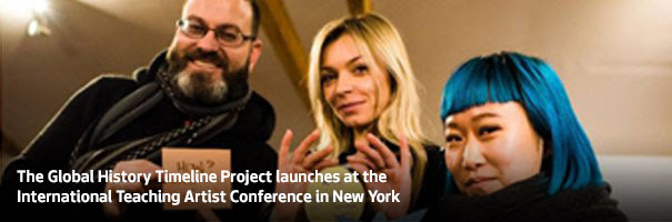 The Global History Timeline Project launches at the International Teaching Artist Conference in New York