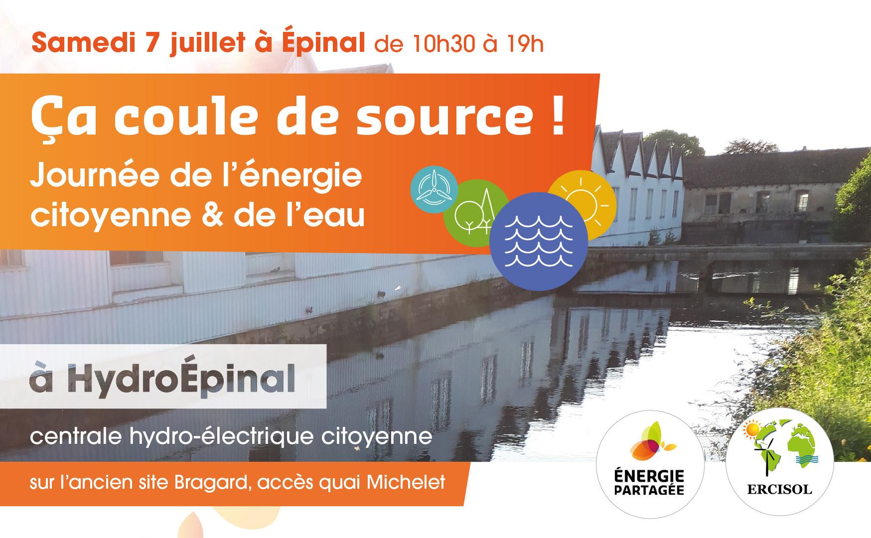 Ça coule de source - Journée de l'eau et de l'énergie citoyenne - de 10h30 à 19h à HydroÉpinal