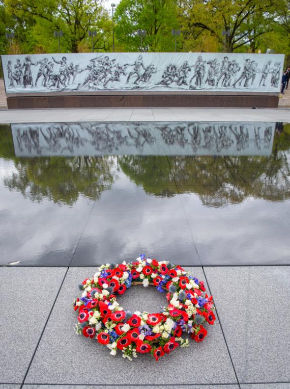 Wreath at National WWI Memorial