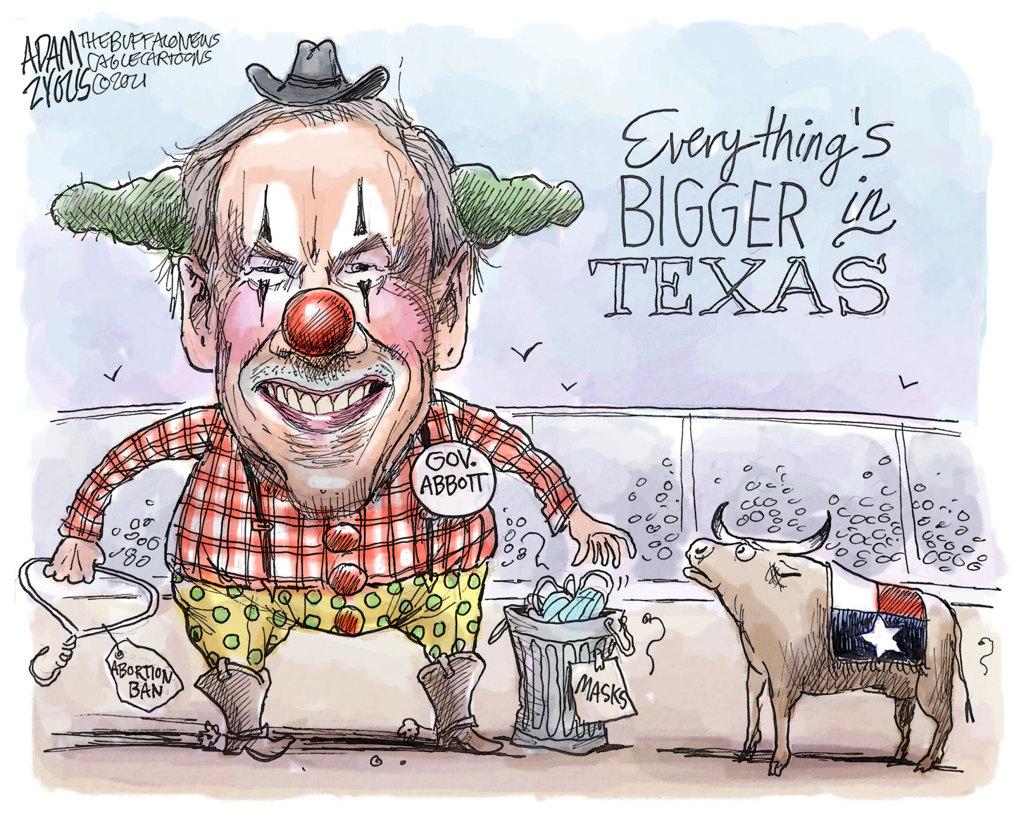 Greg Abbott bans abortions, offers bounties to vigilantes while ignoring COVID safety measures.