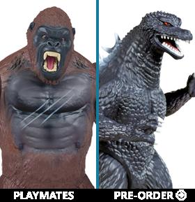 Playmates Godzilla and Kong