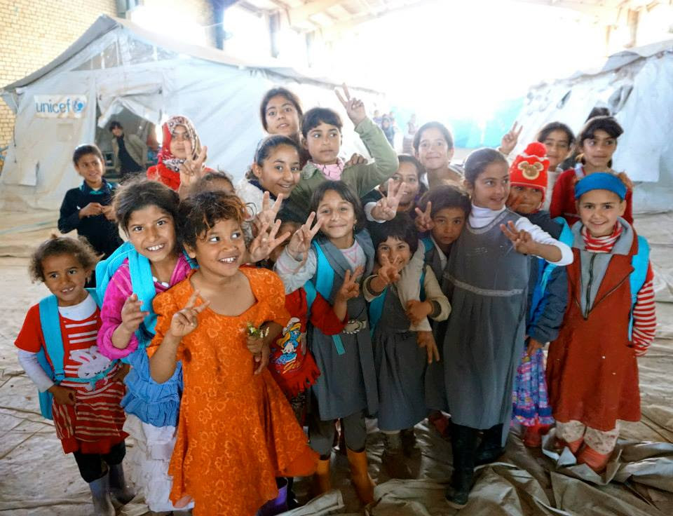 Iraqi Girls in refugee camp