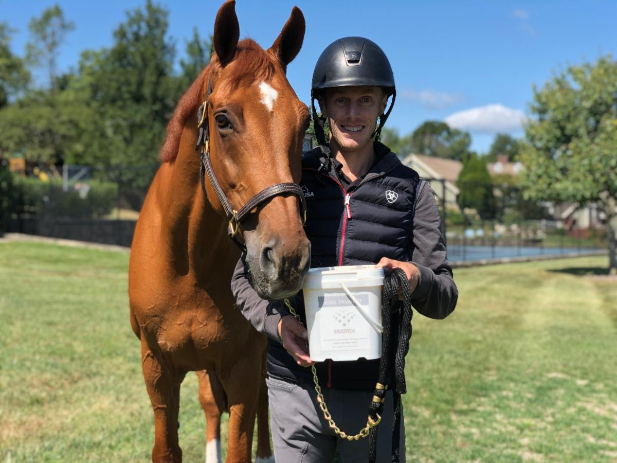 Andrew Welles and Brindis Bogibo with their Equine Matrix
