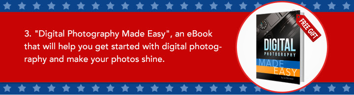 """3. """"Digital Photography Made Easy"""", an eBook that will help you get started with digital photography and make your photos shine."""