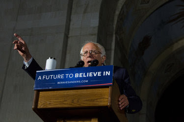 Senator Bernie Sanders campaigning in Los Angeles on Saturday. Hillary Clinton has made clear that she plans to declare the Democratic race effectively over after the California primary on Tuesday.