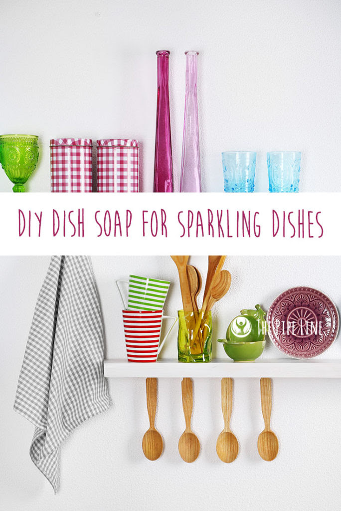 DIY Dish Soap For Sparkling Di...