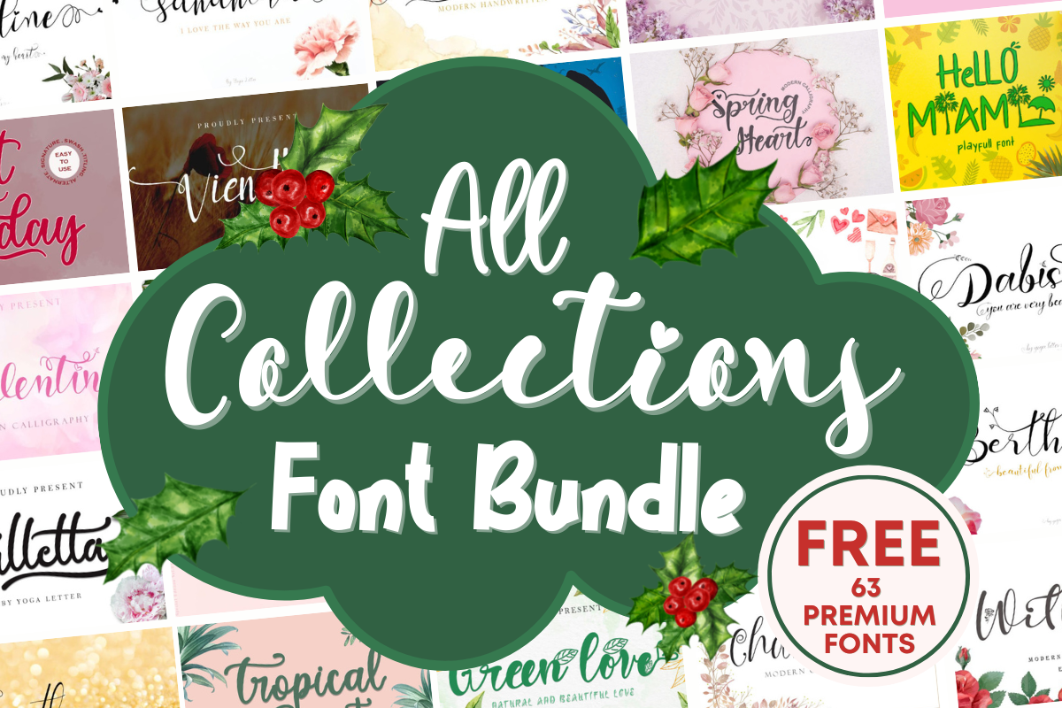 All Collections Font Bundle