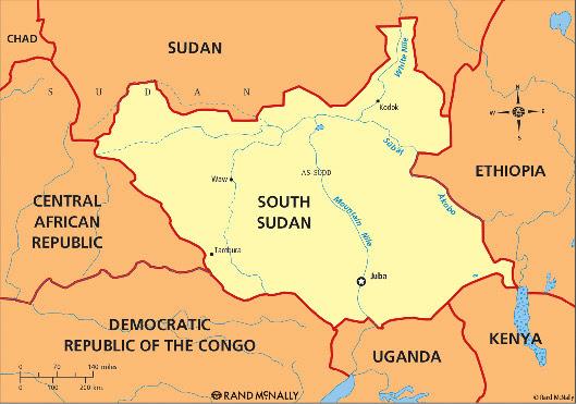 מאפע: אמעריקע ווארנט דרום סודאן רעגירונג