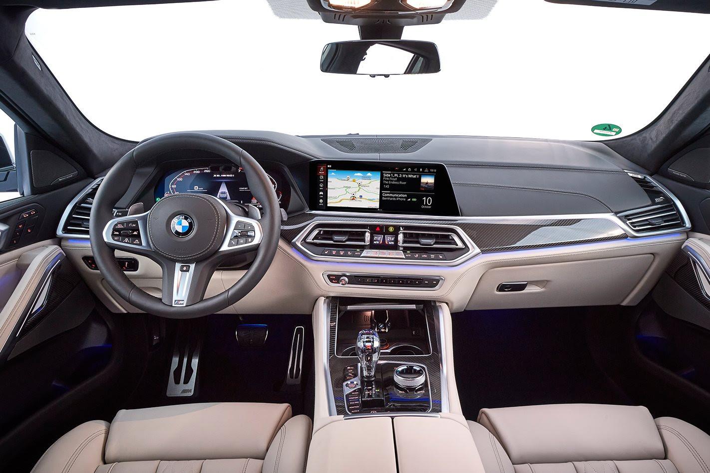 BMW X6 M50i cabin
