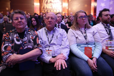 Audience members at the Republican debate in Des Moines last week.
