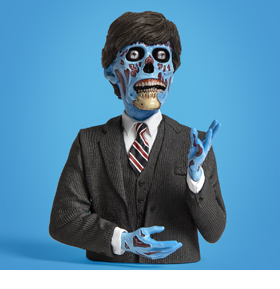 They Live Politician Spinature Bust