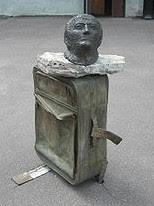 Joseph Brodsky, statue mémorial, St Petersbourg