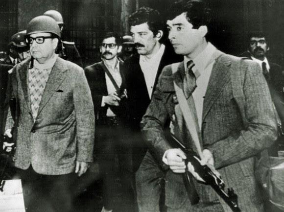 Salvador Allende en la Moneda, el 11 de septiembre de 1973.