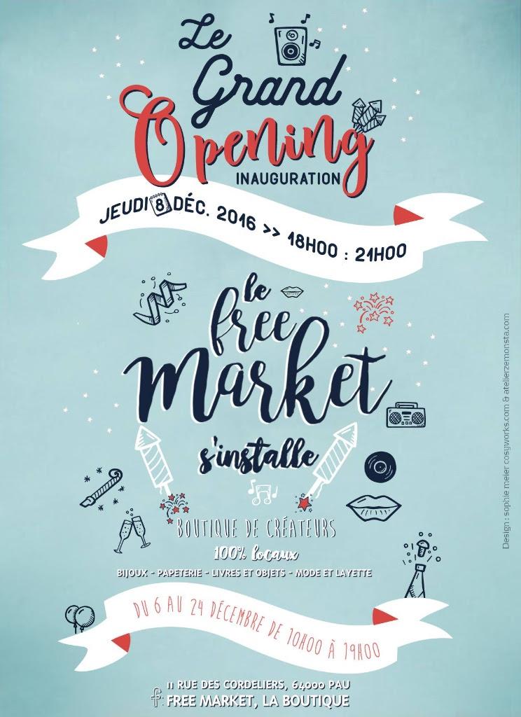 Le Free Market s'Installe à Pau, boutique de créateurs
