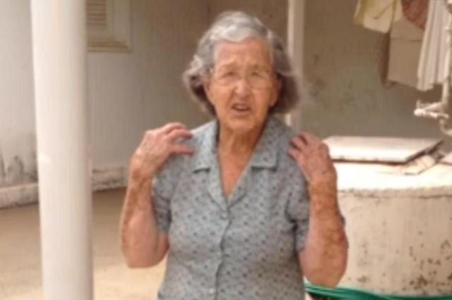 Vídeo: idosa de 98 anos dá um show de disposição em exercícios físicos Priscilla Dalledone,Youtube/Reprodução