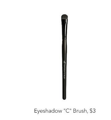 "Eyeshadow ""C"" Brush, $3"