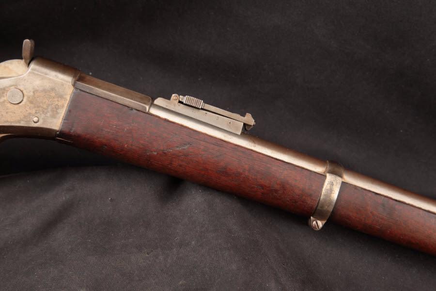 """Remington Argentine Model 1879 Patria Rolling Block, Blue & Case Color 36"""" - Single Shot Rifle & Cleaning Rod, 1879-82 Antique - Picture 5"""