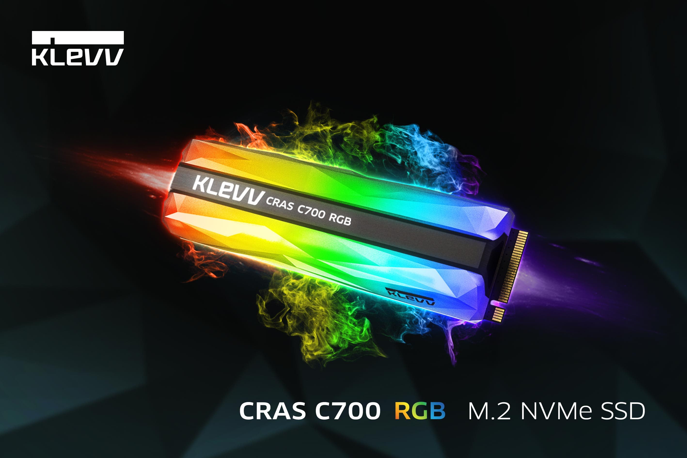 Enable images or just imagine how amazing the KLEVV CRAS C700 RGB M.2 NVMe SSD looks like..