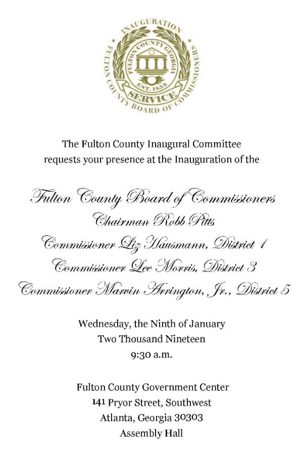 Inauguration of Fulton County Commissioners