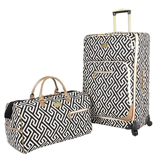 Nicole Miller 2-Piece Luggage Set ( (Fashion-Black)