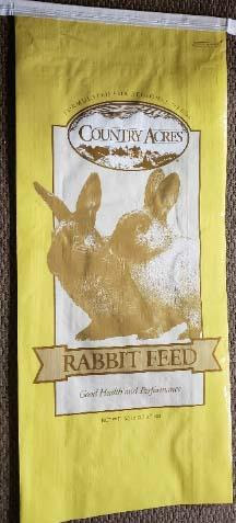 Photo 9: Label, Country Acres Rabbit Pellet 18%