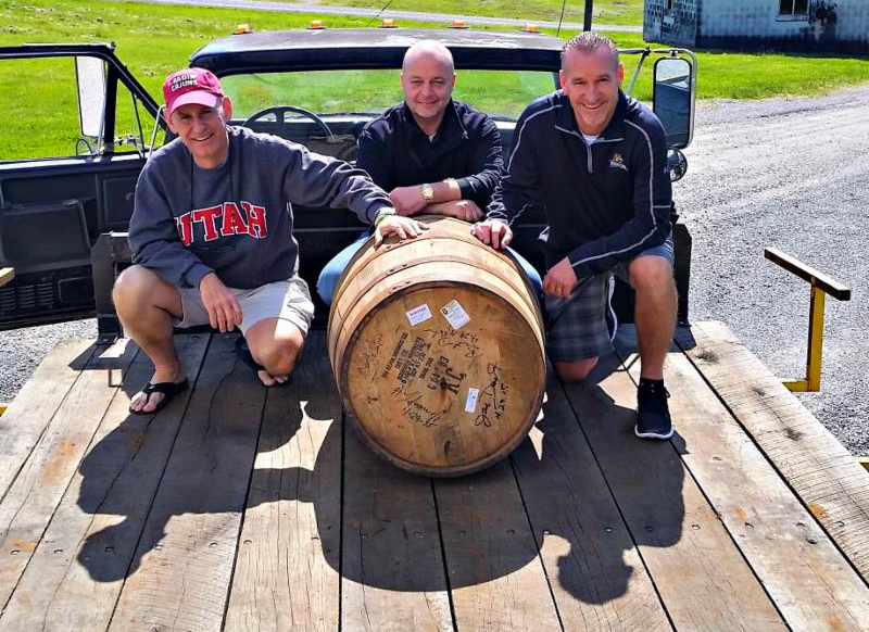 Andy, Joe, Brent with bourbon May 2015