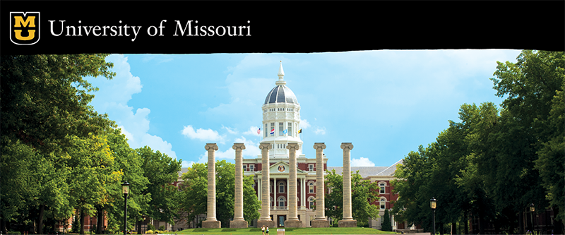 The Columns and Jesse Hall at the University of Missouri