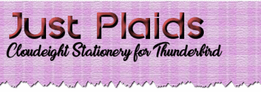 Just Plaids - Cloudeight Stationery for Thunderbird