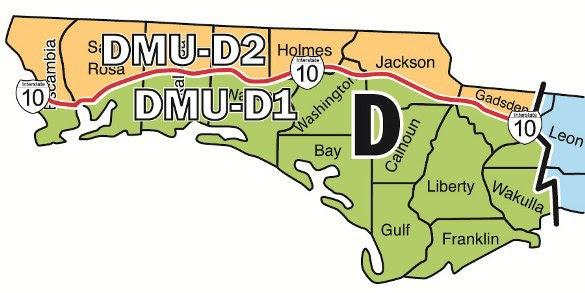 Zone D: DMU 1, DMU 2