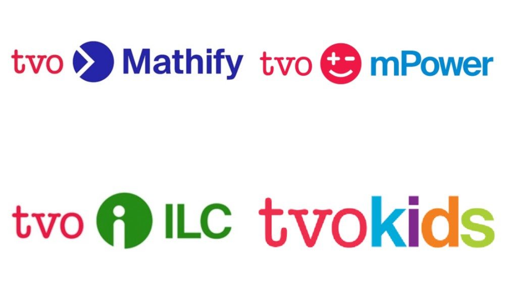 Graphic collage of TVO Digital Learning Resources