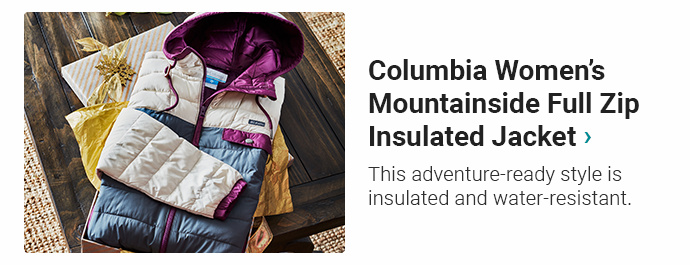 Columbia Women's Mountainside Full Zip Insulated Jacket | This adventure-ready style is insulated and water-resistant.