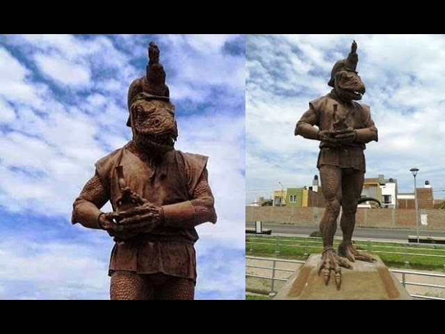 Statue of a Reptilian Humanoid in Peru  Sddefault