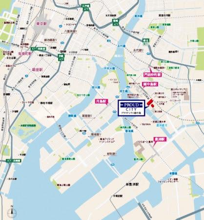 「プラウドシティ越中島」現地案内図