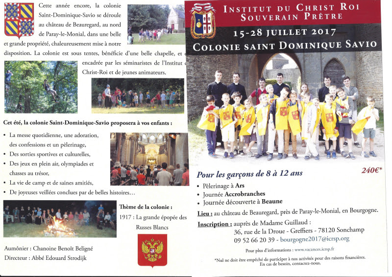 COLONIE SAINT DOMINIQUE SAVIO 15-28 JUILLET 2017