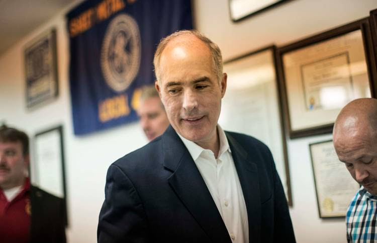 Bob Casey holds a forum in Wilkes Barre, Pa. (Melina Mara/The Washington Post)