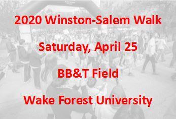 2020 Winston-Salem Walk Date