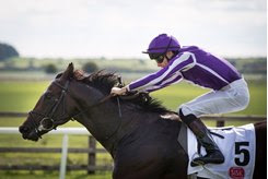 Ten Sovereigns and Donnacha O'Brien win the Round Tower Stakes at The Curragh