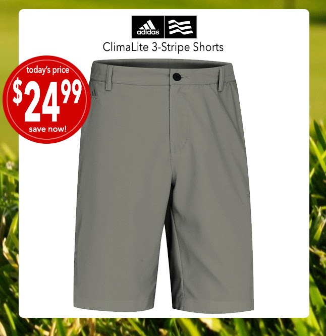 Adidas ClimaLite Men's Shorts   • only $24.99 • This deal is NOW