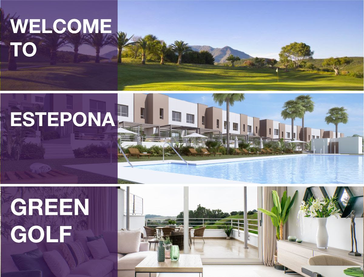 Green Golf, new 3 bedroom townhouses in Estepona Golf