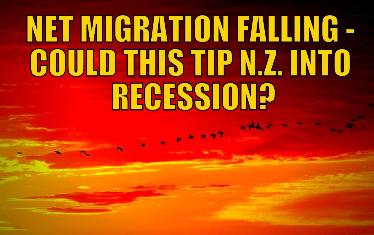 Net Migration Falling - Could This Help Tip NZ into Recession?