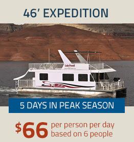 46' Expedition - $66 per person per day