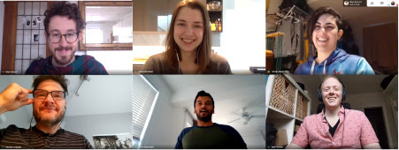 Cycle Toronto staff appear in a video chat
