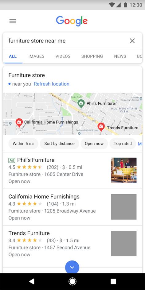 Campanhas locais anunciadas no Google Marketing Live 2019
