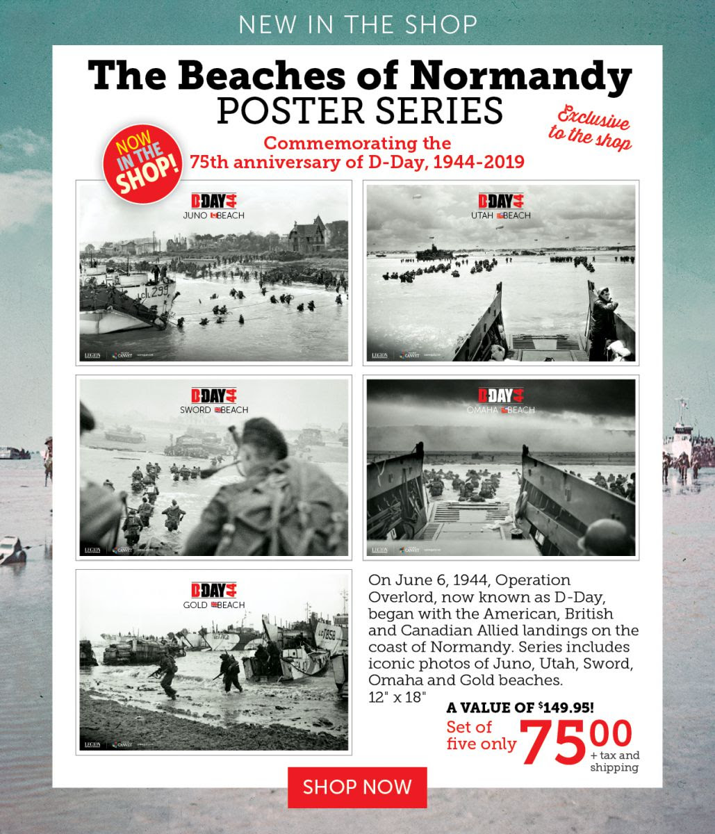 The beaches of Normandy Poster Series