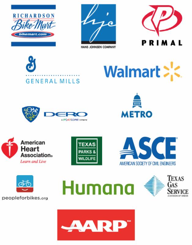 BikeTexas Premier Sponsor logos