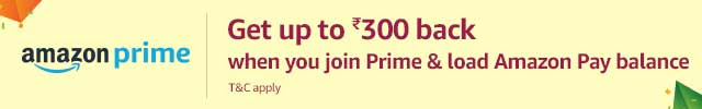 Get Up to Rs. 300 back when you join Prime & load Amazon Pay balance